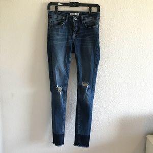 Zara Color Block Jeans
